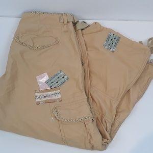 Miss Me khaki cargo capri pants